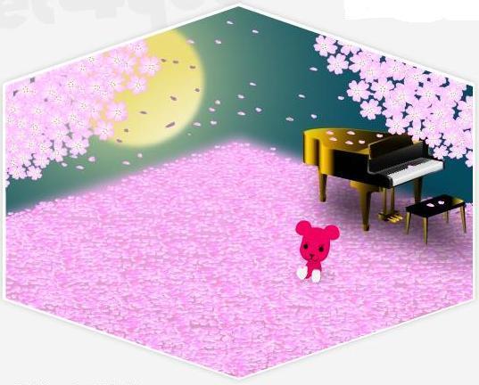 ピアノと夜桜.JPG